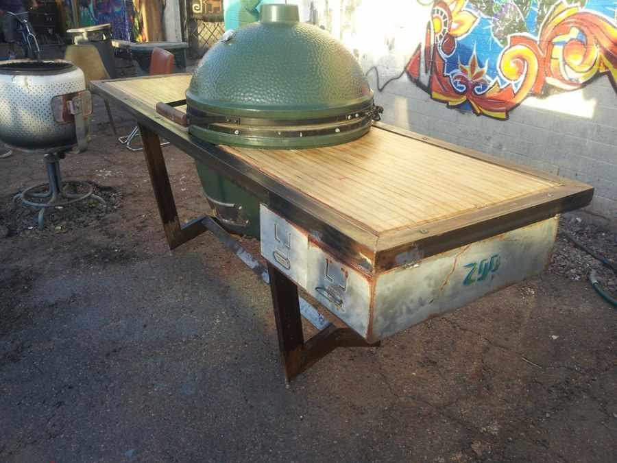 Steel-wood-industrial-bbq-table