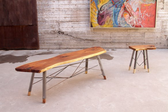 bench-steel-wood